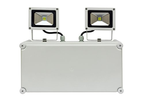 Emergency 2x10w LED Non Maintained Twin Spot Floodlight IP65