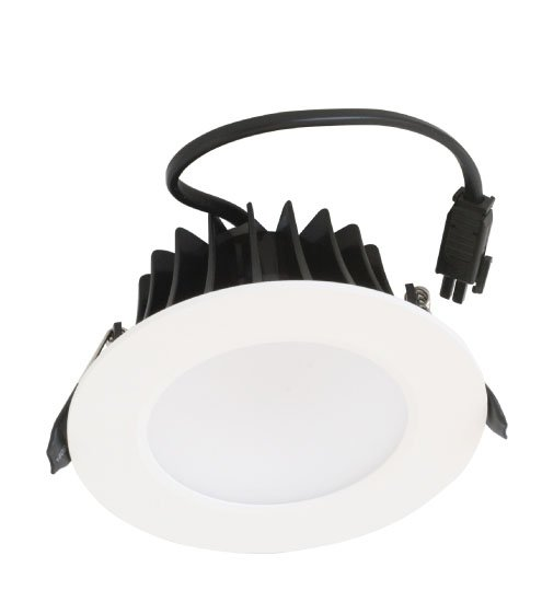12W LED Downlight, 3000K, Matte White, 1100lm, IP65, Dimmable