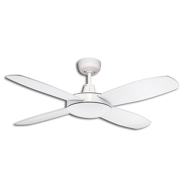 Lifestyle Mini 1067mm 4 Blade Ceiling Fan Only, White